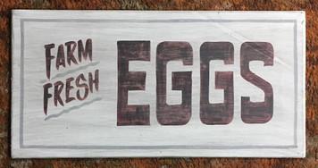 Old Time Sign - FARM FRESH EGGS by George Borum