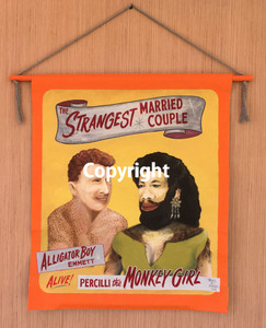 STRANGEST MARRIED COUPLE - Circus Carnival Banner by Wolfe & Borum