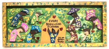 EVERYBODY LOVES  A FLOWER - by Mary Proctor - #3475-c - WAS $195 - Now $125