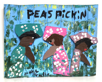 PEA  PICKERS PAINTING by Mary Proctor - #3479-WAS $125 - NOW $95