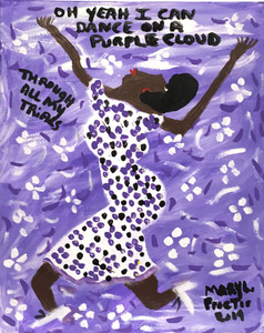 DANCING on a PURPLE CLOUD - by Mary Proctor - # 3483 - WAS $395 - NOW #295