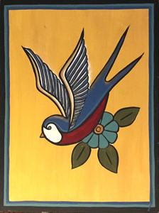 BIRD PAINTING #23 - By Maria del Sol