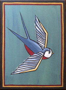 BIRD PAINTING #18 - by Maria del Sol