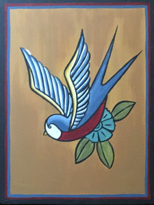 BIRD PAINTING #17 - by Maria del Sol