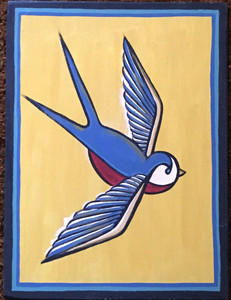 BIRD PAINTING #24 by Maria del Sol
