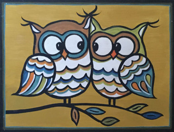 OWL COUPLE #7 by Maria del Sol