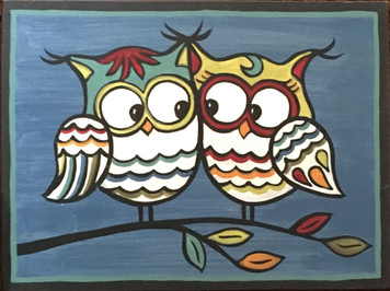 TWO OWLS #6 by Maria del Sol