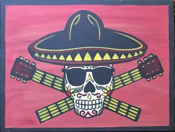 SKULL w/ Hat #21 by Marie del Sol