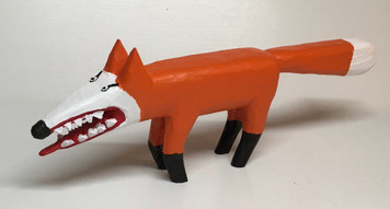 RED FOX CARVING --- by Minnie Adkins