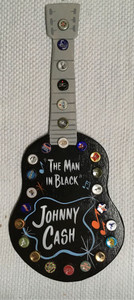 JOHNNY CASH - Cut-out GUITAR Wall Hanger -WAS $40-NOW $30