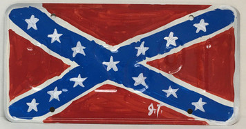 CONFEDERATE - REBEL LICENSE PLATE by John Taylor