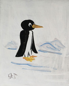 PENGUIN PAINTING by John Taylor