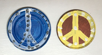 2 PEACE - Medal Lids - with Magnets