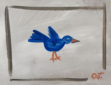 BLUEBIRD on CARDBOARD by John Taylor