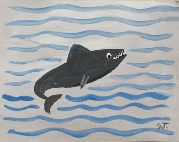 SHARK on Cardboard by John Taylor