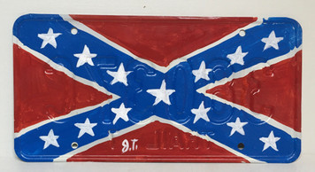 REBEL - CONFEDERATE FLAG LICENSE PLATE by John Taylor