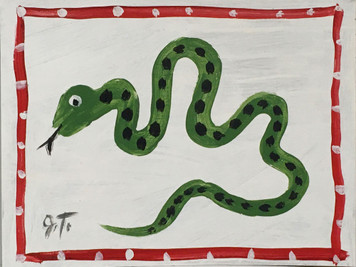 SNAKE PAINTING by John Taylor