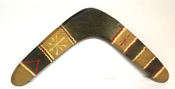 Decorated Wooden BOOMERANG by Geo G Borum