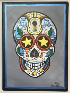 Sugar Skull (guitar) Calavera de Folk Musica # 28