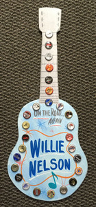 WILLIE NELSON - Cut-out Wood Guitar