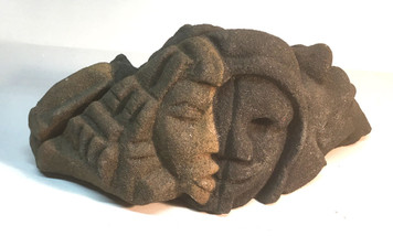 SANDSTONE SCULPTURE - FACES & PYRAMIDS by Lonnie Holley
