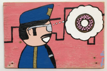 """COP PORN"" Policeman loves donut - by Tony Dotson"