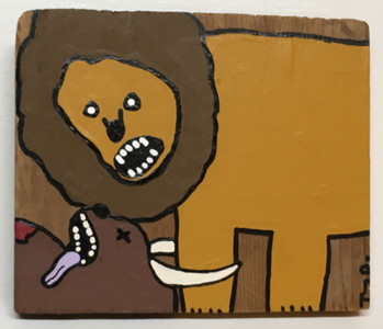 """THE ART OF FOOD"" - Lion eating deer? - Tony Dotson - Was $80 - Now $40"