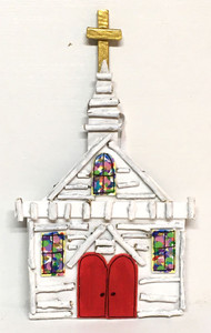 LITTLE WHITE CHURCH - Hanging Ornament by Deane Bowers