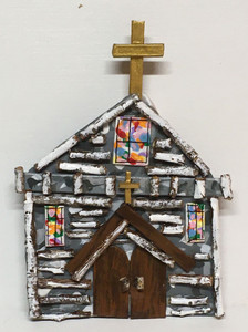 GREY CHURCH - Hanging Ornament by Deane Bowers