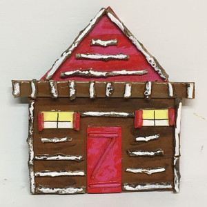 BROWN CABIN - Hanging Ornament by Deane Bowers