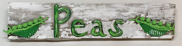 PEAS - Kitchen Sign w/ hanger - by Deane Bowers