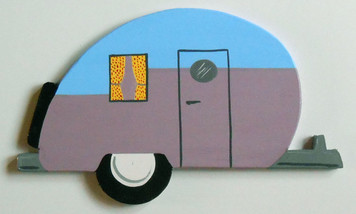 50's TRAVEL TRAILER - Wall Hanger