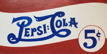 "PEPSI COLA - Old Style LOGO - wood sign - 12"" x 24"""