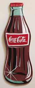 COKE BOTTLE - WOODEN -  WALL HANGER by Heidi Wolfe