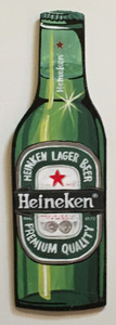 HEINEKEN BEER BOTTLE - Wall Hanger by Heidi Wolfe