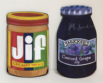 PB&J - JIF -  Peanut Butter  & SMUCKERS Jelly -  by Heidi Wolfe