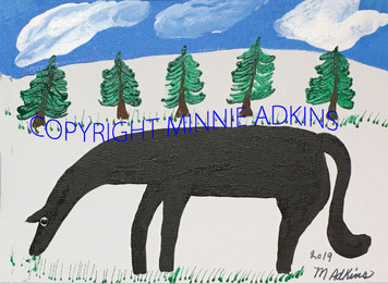 HORSE - PAINTING - #5 --- Minnie Adkins - Was $75 - Now $60