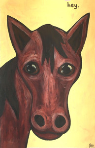 "HORSE PAINTING ""HEY"" by Beth Gumnick"