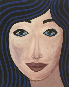 """BLUE GIRL"" PAINTING by Beth Gumnick"