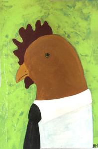 """""""The Provider"""" - Rooster Painting by Beth Gumnick - Was $85 - Save $25"""