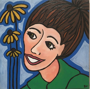 """BLACK EYED SUSAN"" Portrait by Beth Gumnick"