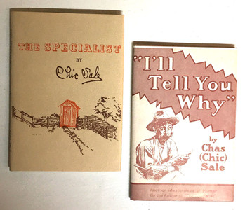 CHIC SALE - 2 CLASSIC HUMOROUS OUTHOUSE BOOKS