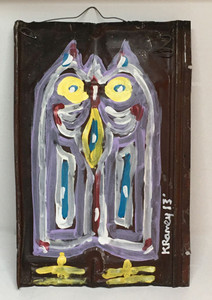 OWL PAINTING on Tin Roofing #8 by Kip Ramey