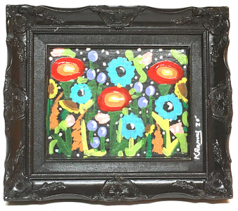 NIGHT FLOWERS - Fancy Frame - By Kip Ramey