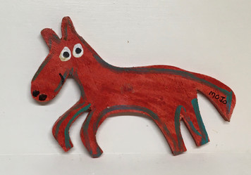 RED HORSE WOOD CUTOUT by MOJO