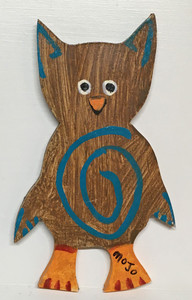 CUT OUT WOOD OWL BY MOJO