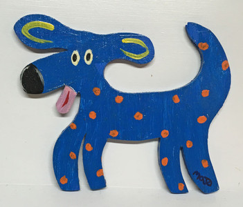 BLUE DOG - WOOD CUT-OUT by Mojo