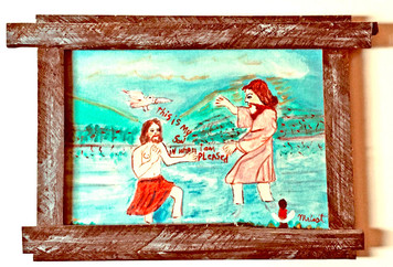 THE BAPTISM of JESUS - Painting by Myrtice West