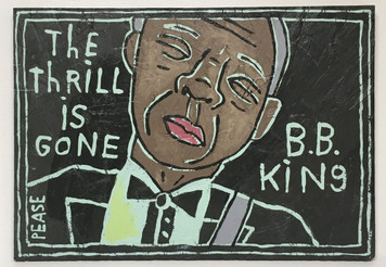 B B KING  WALL PLAQUE by Ken Pease