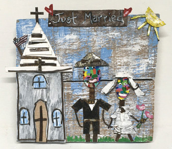"""JUST MARRIED "" Plaque by Deane Bowers"